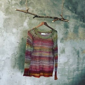 Anthropologie Charlie & Robin Stripe knit sweater